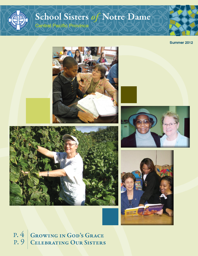 SSND CP Summer 2012 Newsletter Cover