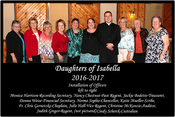 Daughters of Isabella installation of officers, 2016-2017