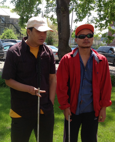 Blind men from Burma, students of Associate Kate Fontanazza.