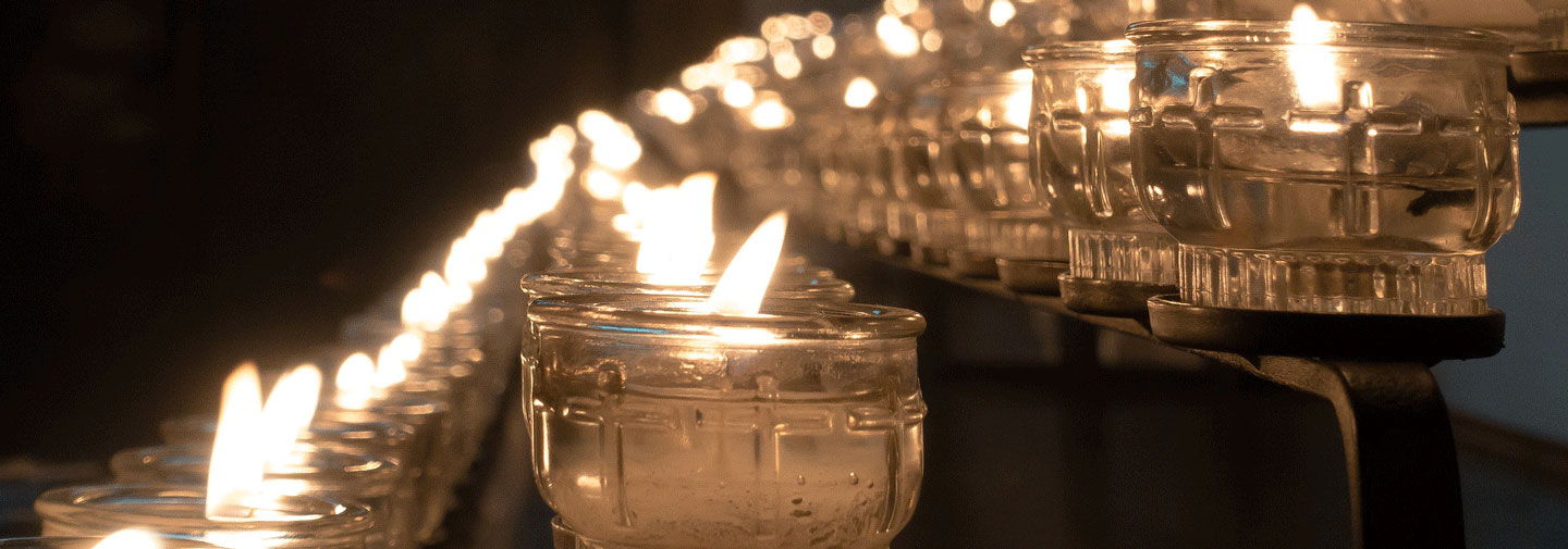 Memorial candles for Provincial Statement on Las Vegas shooting