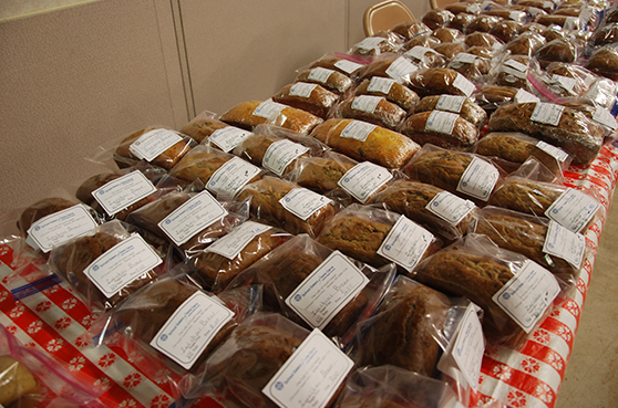 Loaves of bread sold at the annual Craft Fair and Garage Sale.