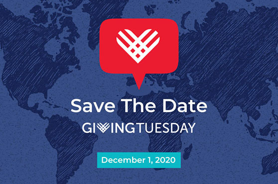#GivingTuesday - Save the Date, December 1, 2020