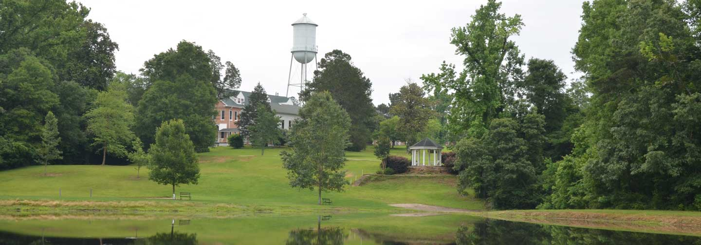 The Retreat Center at St. Mary of the Pines in Chatawa, Mississippi, provides ad place for peaceful contemplation.