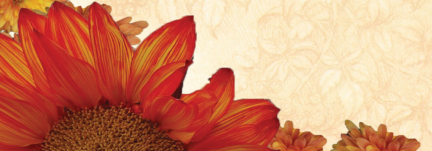 Thanksgiving image parchment paper background and red and orange leaves.