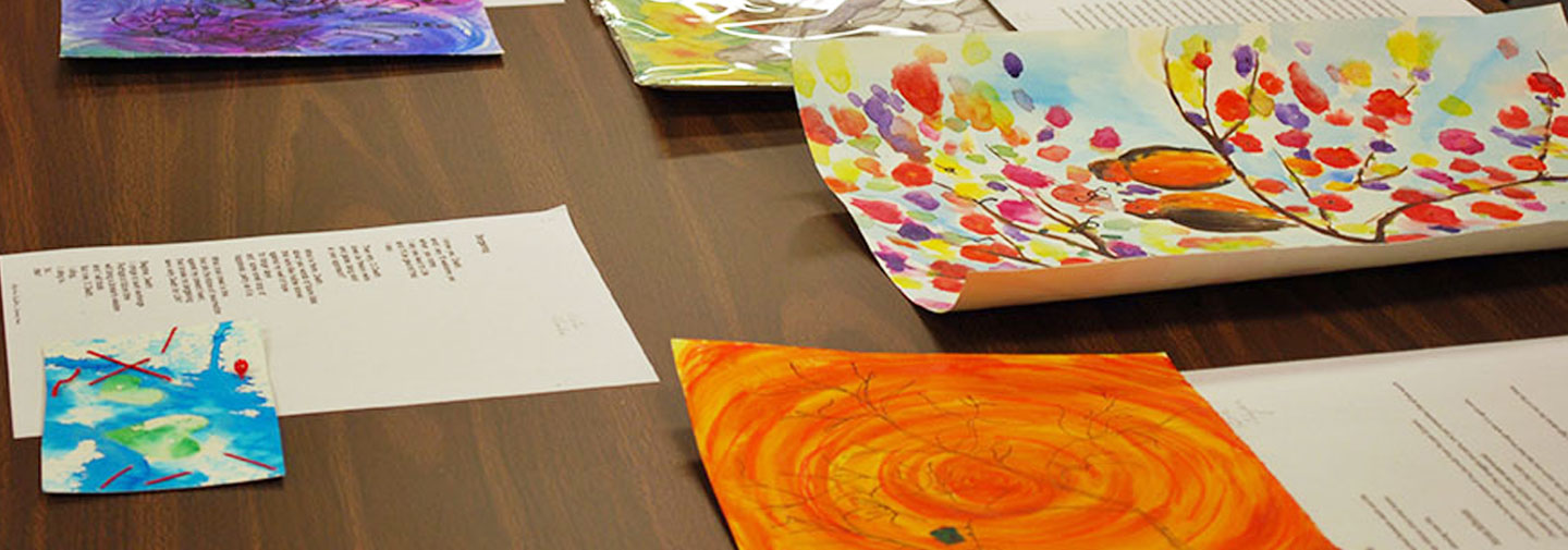 School Sisters of Notre Dame and Mount Mary University art therapy students combined forces to make writing and art about the process of aging