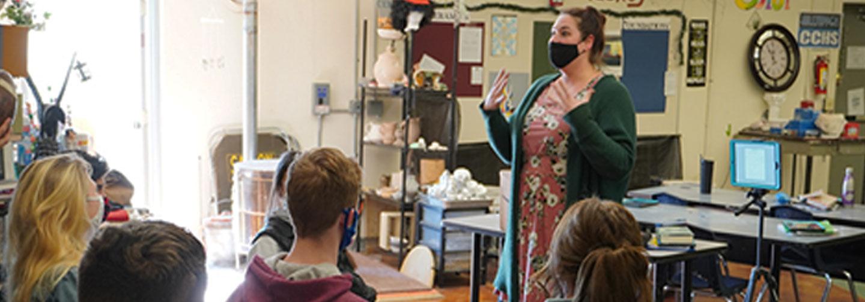Ms. Hoeppner is an Art Teacher at Catholic Central High School in Burlington, Wisconsin.