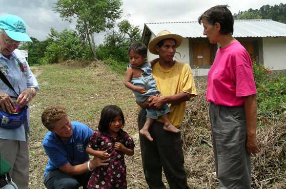 Sister Mary Kennedy and other SSNDs from the Central Pacific Province minister to the people of Monte Verde, Honduras.
