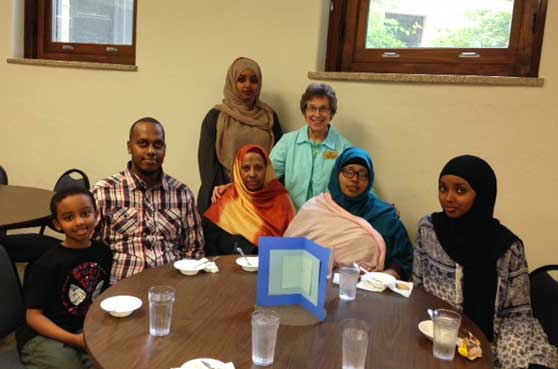Sister Richarde Wolff works with refugees and immigrants through the Refugee Outreach Center.