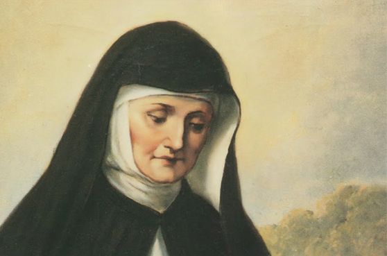 The beatification picture was hung outside St. Peter's when Blessed Theresa was beatified in 1985. It's a picture of a 19th century painting by Josef Kastner from Vienna.