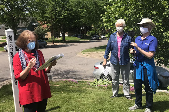 School Sisters of Notre Dame located in the Twin Cities came together in prayer and reflection to support the protests as a result of the death of George Floyd.