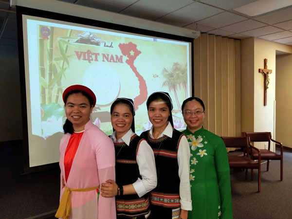 Four Vietnamese sisters arrived to Elm Grove, Wisconsin, to learn English.