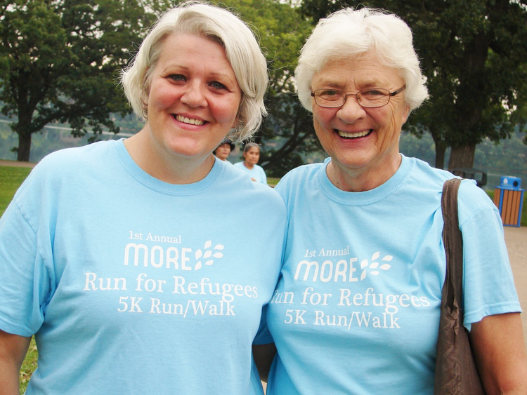 MORE's Executive Director, Cathy Rucci pictured with Sister Kathleen Spencer, MORE's Founder. (2012)