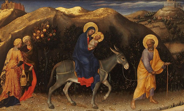 Sister Marie Regine Redig reflects on the Advent walk to Christmas. This image of Joseph, Mary and Jesus encompases they journey they made.