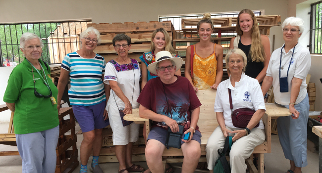 Sister Francine Koehler reflects on Advent and her trip to El Paso, Arizona, with a Mission Awareness Process (MAP) group with the School Sisters of Notre Dame at the men's carpentry shop.