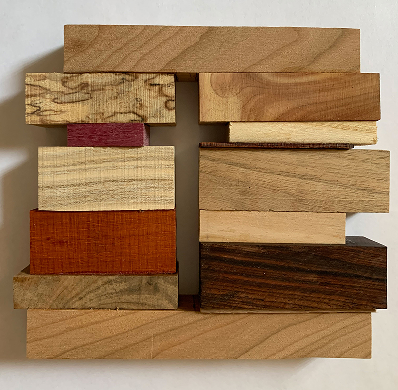 "Sister Karen Warren created this wood cross titled ""Stay at home"" due to COVID-19."