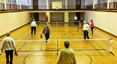 SIsters at Our Lady of Good Counsel take part in Pickleball.