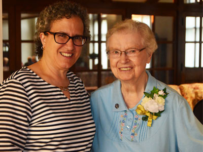 Our Lady of Good Counsel held their Province Day and Jubilee Celebration on July 20 and 21, 2019. Featured: Sisters Debra Marie Sciano, Provinicial Leader, and Mary Dominiuc Klaseus