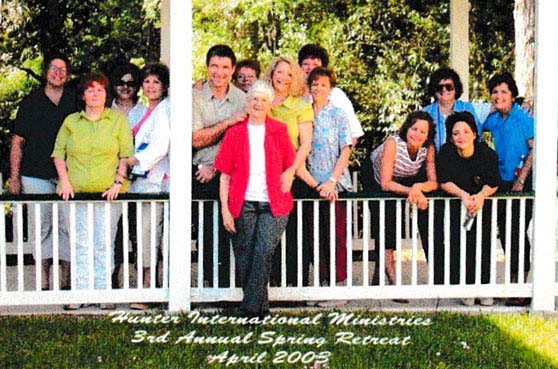 This image is from 2006 of Sister Joan Schaefer and the staff at St. Mary of the Pines Retreat Center in Chatawa, Mississippi.
