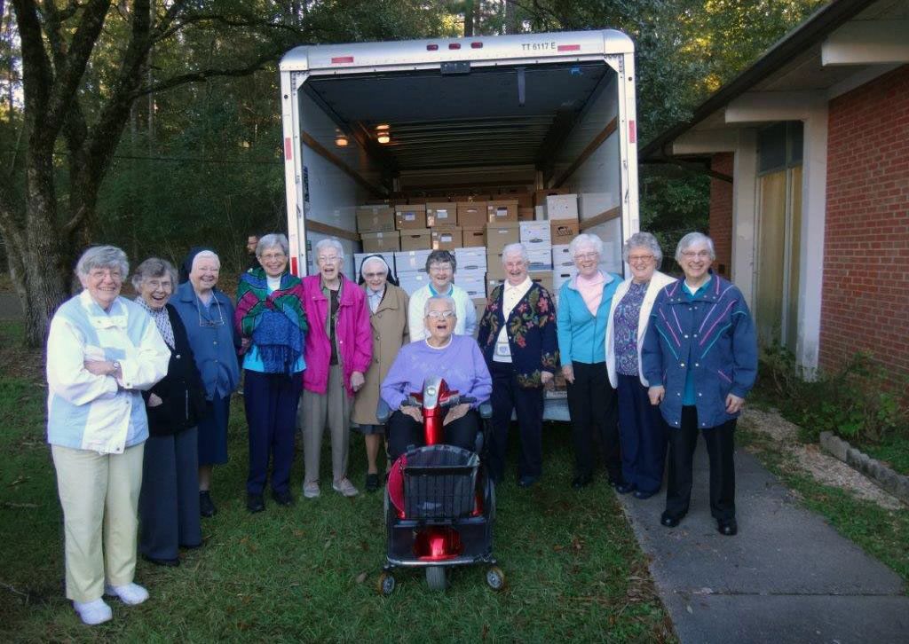 Sisters in Chatawa, Mississippi, bid farewell to their archives, which will be moved to Mount Mary University in Milwaukee.