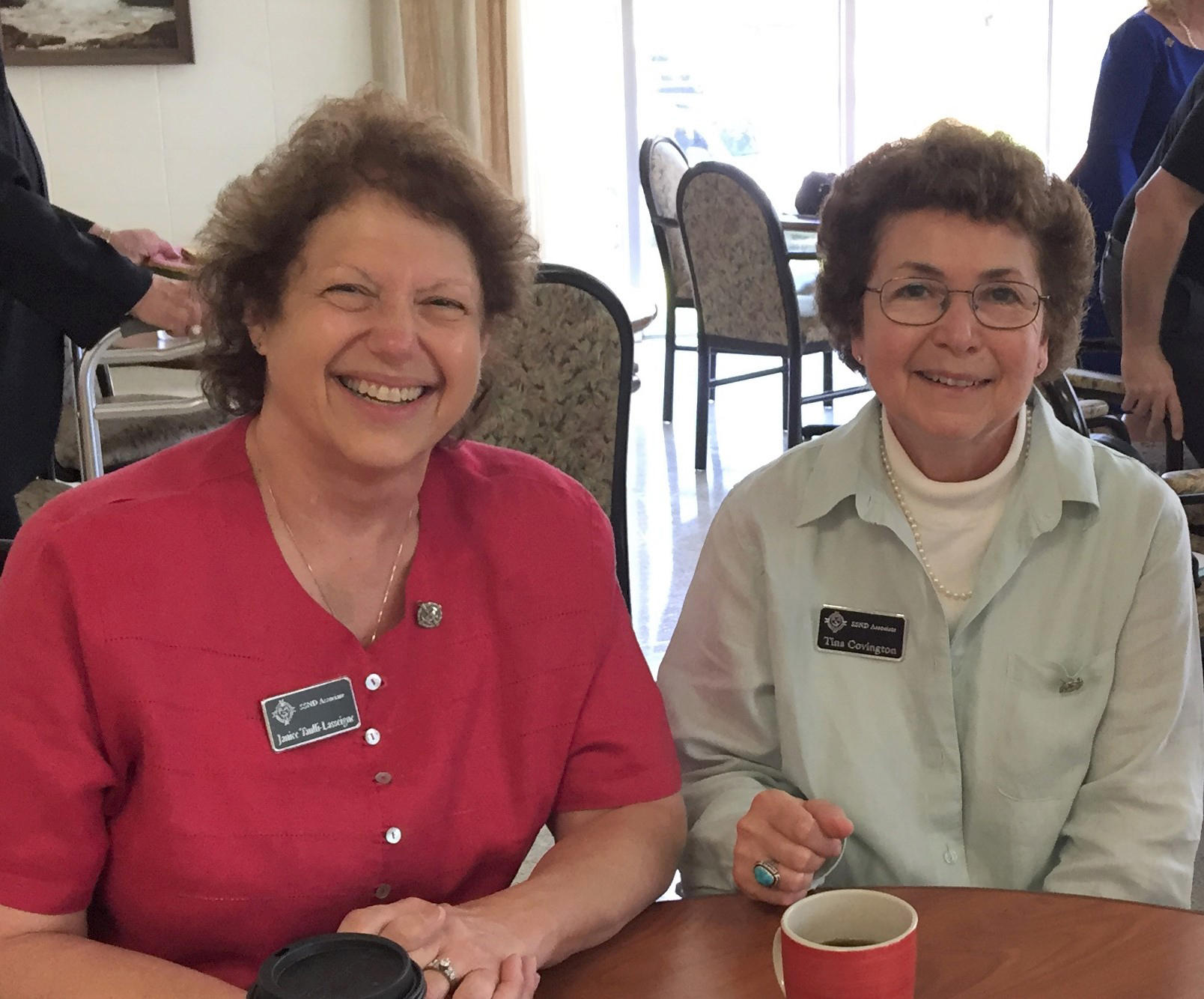 Associates Janice Taulli-Lasseigne and Tina Covington, along with Sister Helen Roper, after the associates made their initial covenant on May 6, 2018. From left to right: Janice Taulli-Lasseigne, Tina Covington and Sister Helen Roper. Photo by Anne Carey.