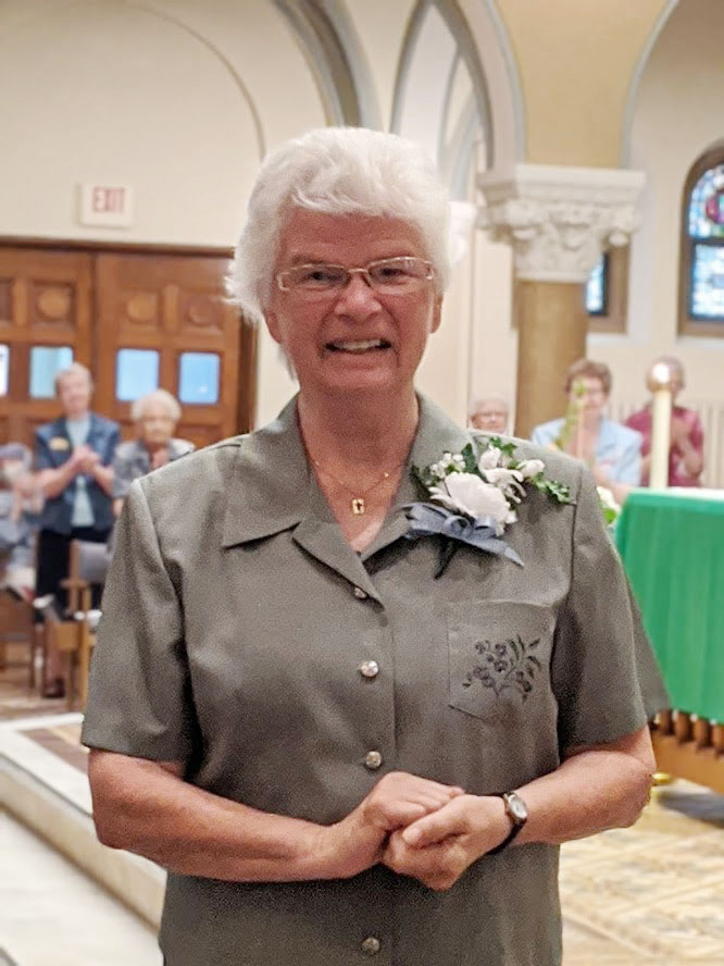 Sister Sue Von Bank celebrates her 60-year Jubilee at OLGC.