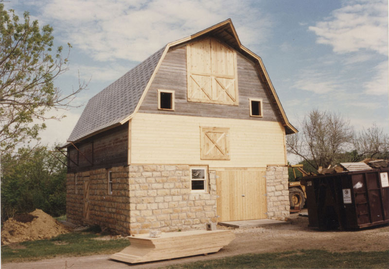 Historic photo of the barn at Our Lady of Good Counsel in Mankato, Minnestoa.