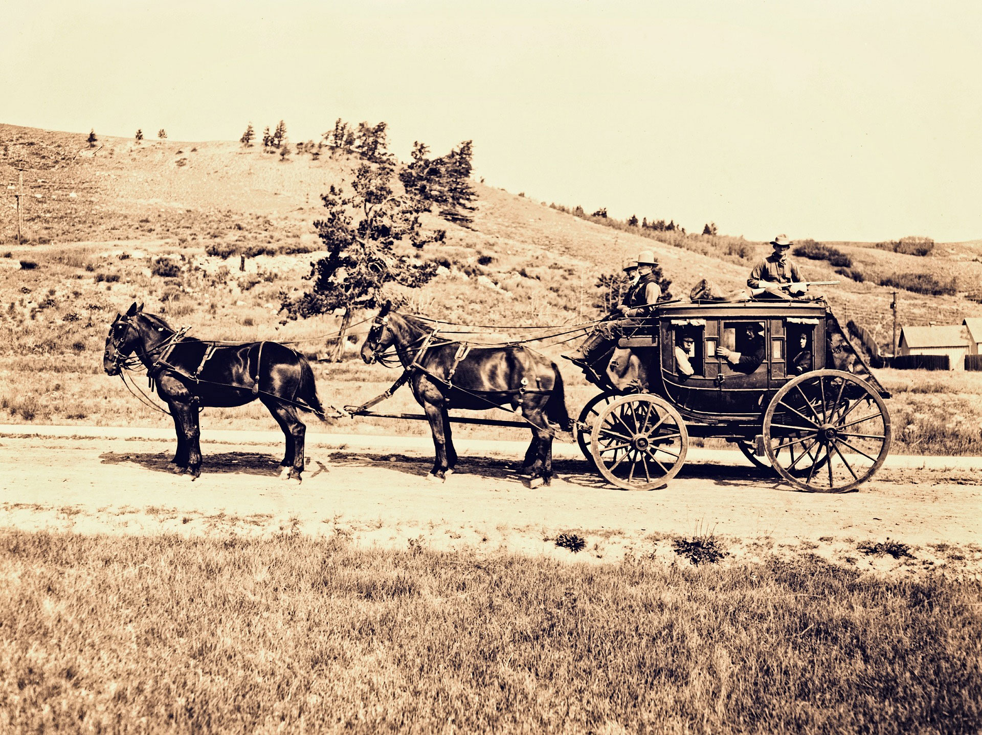 Mother Caroline Friess traveled all over the United States using a variety of transportation; one of them being a stagecoach.
