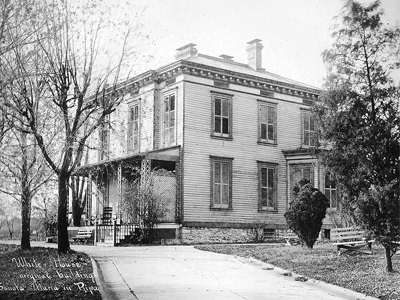 """Sancta Maria in Ripa in St. Louis was established in 1895, 125 years ago. The mansion on the property was affectionately called the """"white house"""" by the sisters."""